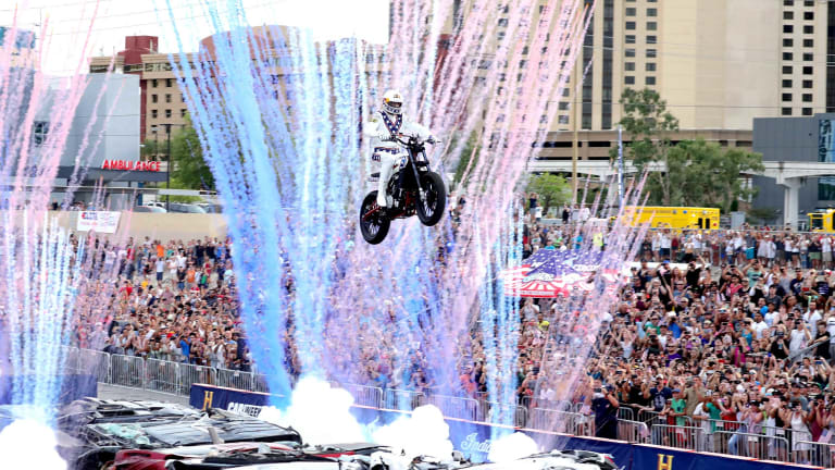Travis Pastrana Nails All Three of Evel Knievel's Historic Jumps