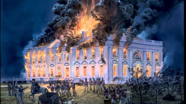 Image result for who set the white house on fire in 1814