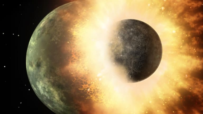 Moon Created by Giant Collision, Studies Confirm