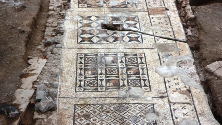 Giant Roman Mosaic Unearthed in Turkey