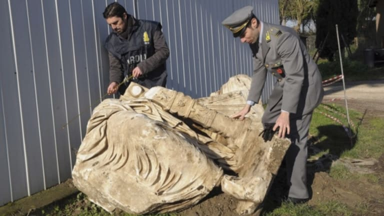 Caligula Statue Seized From Looters Is Unveiled