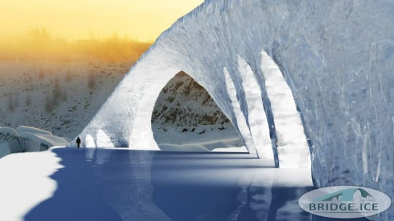 Students Use Da Vinci Design to Build World's Longest Ice Bridge