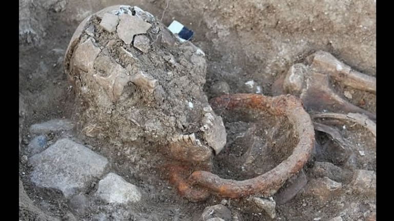 Shackled Skeletons Unearthed at Roman Necropolis in France