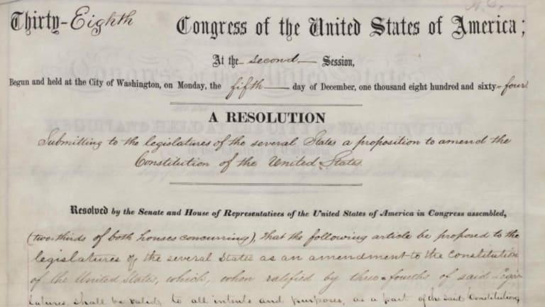 Congress Passes 13th Amendment 150 Years Ago History