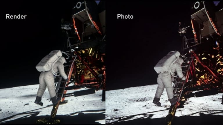 Lighting Simulation Offers More Proof of Moon Landing