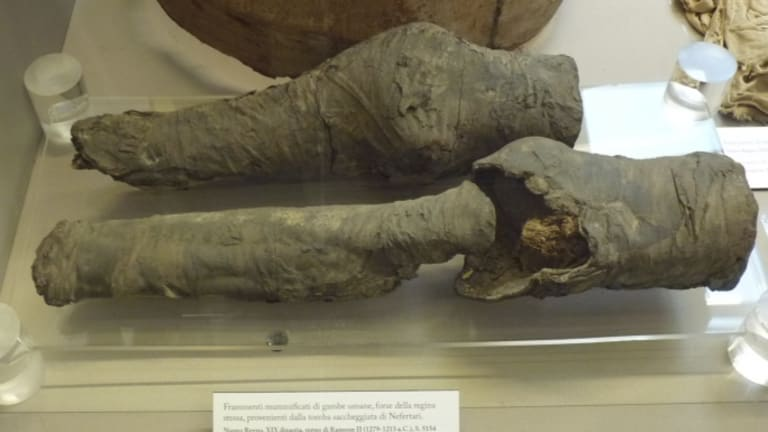 Archaeologists Identify Mummified Legs as Queen Nefertari's