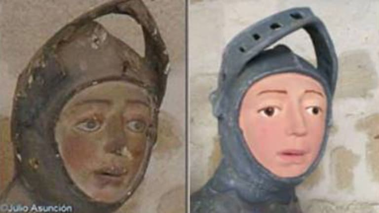 Tintin Is That You Botched Restoration Of St George Figure Causes