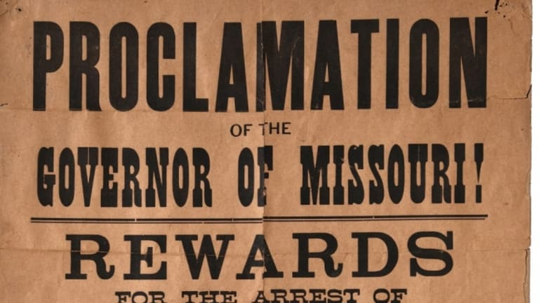 Jesse James Wanted Poster Goes Up for Auction