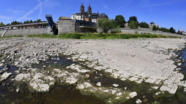 WWII Bombs Surface as Heat Wave Dries Out River in Germany