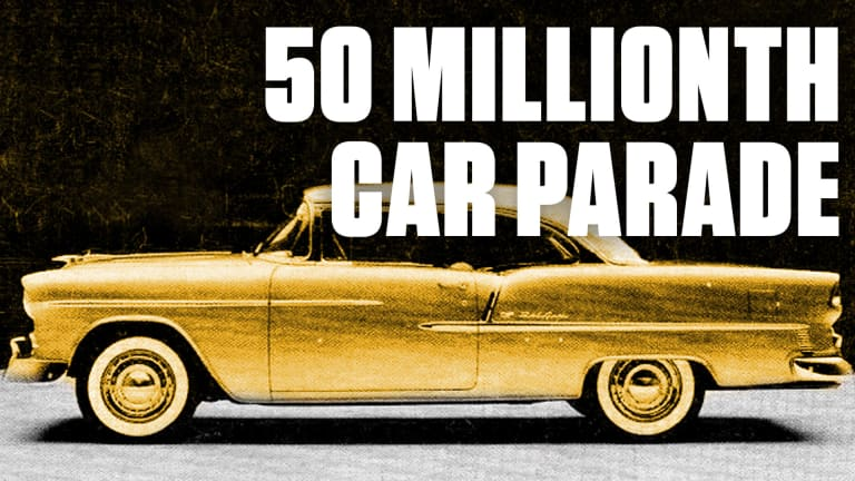 Watch GM Roll Out a Gold-Plated Chevy Bel Air to Mark 50 Millionth Car