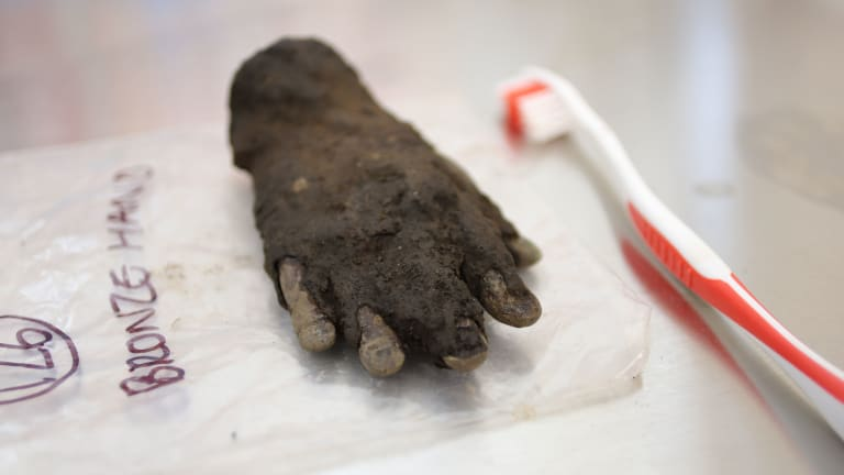 Creepy Bronze Hand Found in England Connected to Ancient Roman Cult