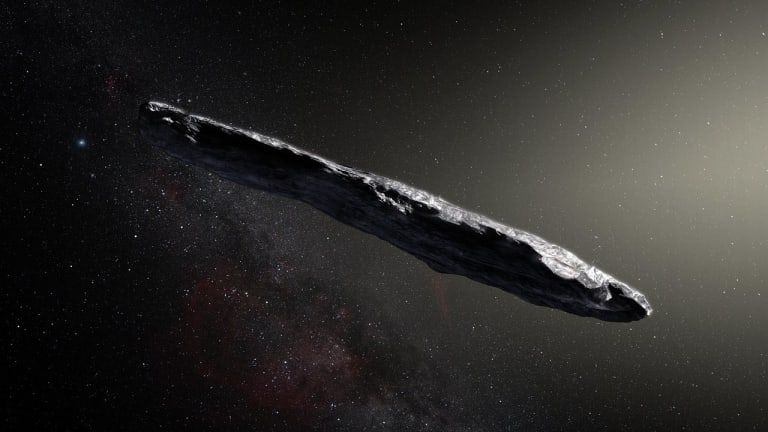 Is This Cigar-Shaped Space Object an Alien Ship?