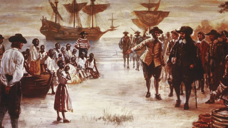 First enslaved Africans arrive in Jamestown, setting the stage for slavery in North America