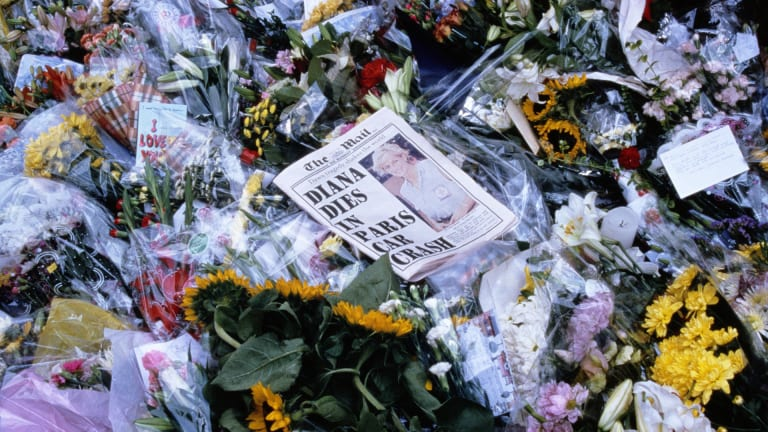 Princess Diana dies in a car crash