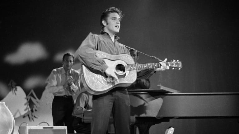 "Elvis Presley makes first appearance on ""The Ed Sullivan Show"""