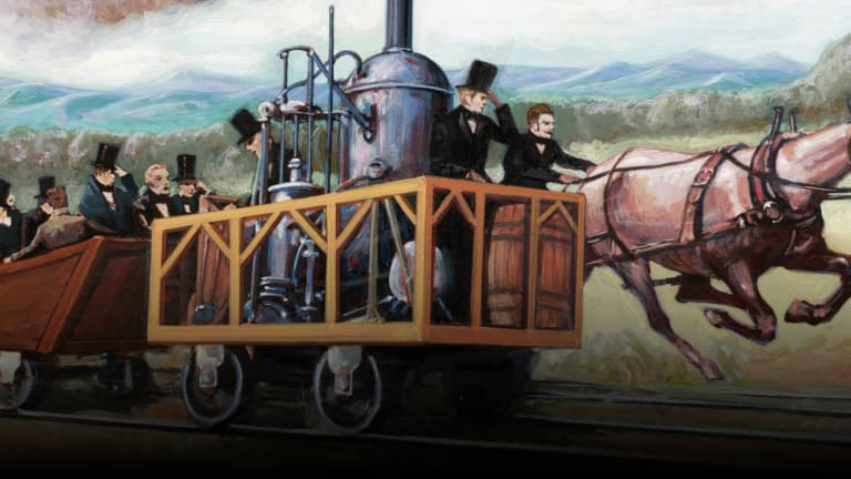 When a Horse Raced Against a Locomotive During the Industrial Revolution