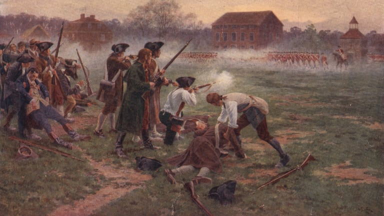 American Revolution begins at Battle of Lexington