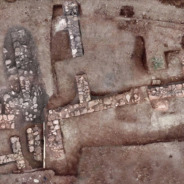 Lost Ancient Greece City_aerial shot
