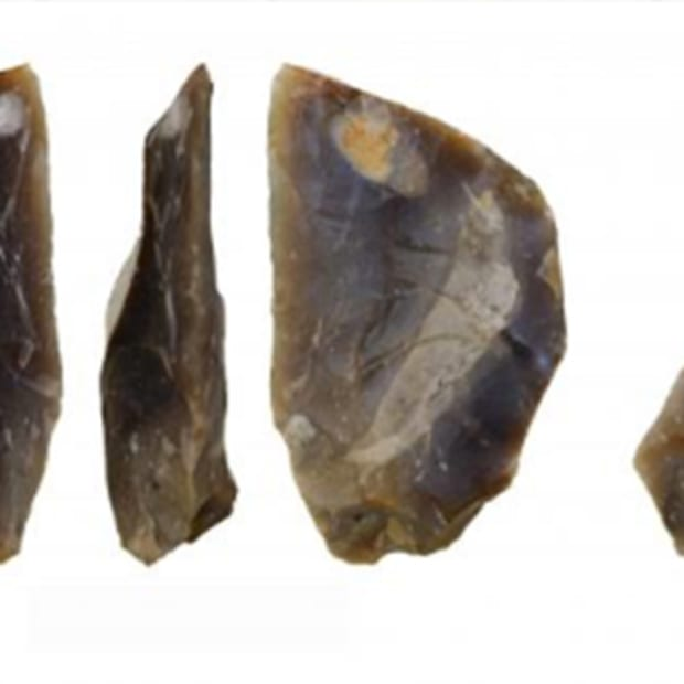 the discovered flint artifacts