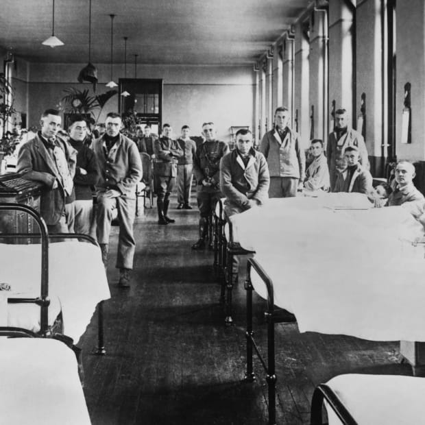 1918 Flu Pandemic, World War I hospital