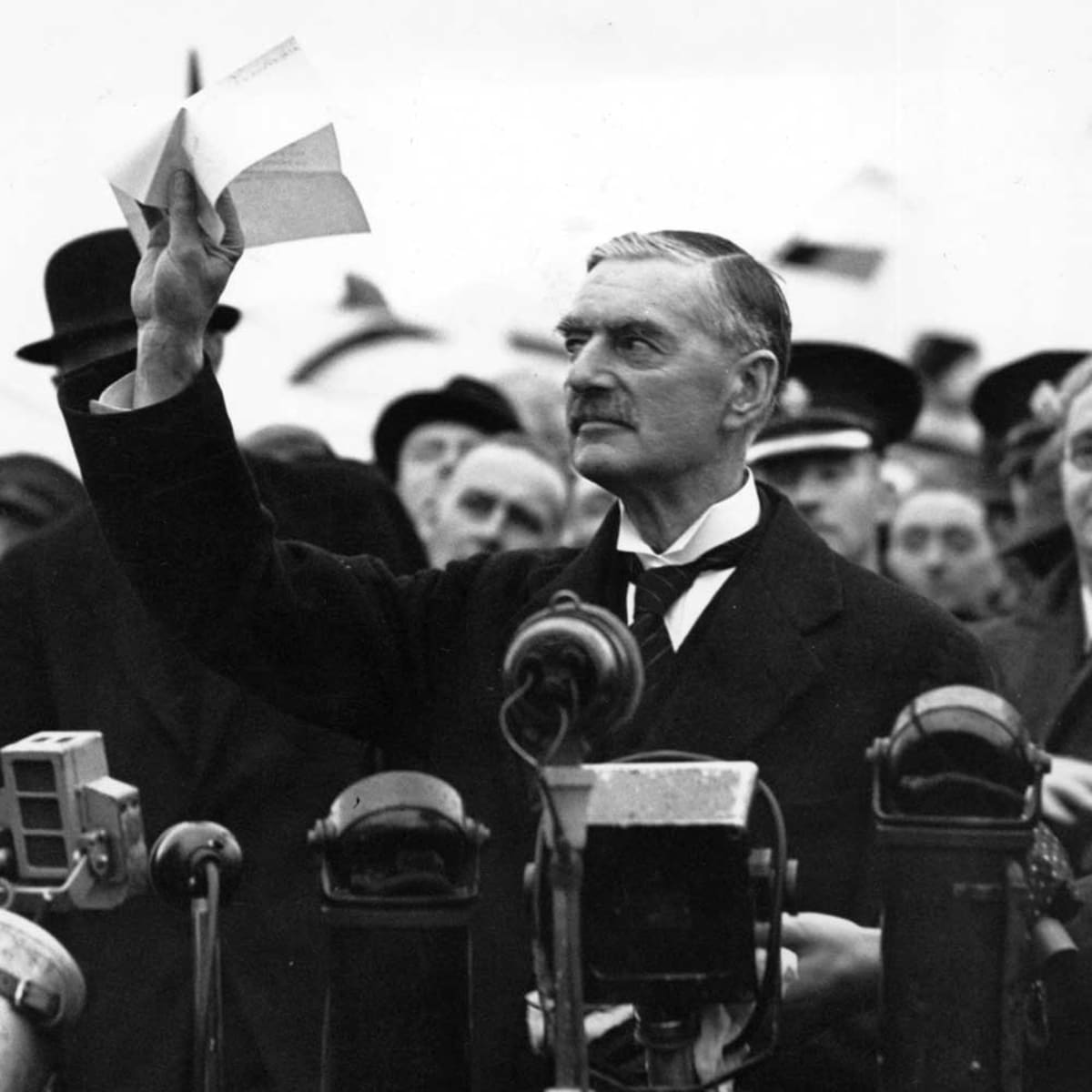 """Chamberlain Declares """"Peace for Our Time"""" - HISTORY"""