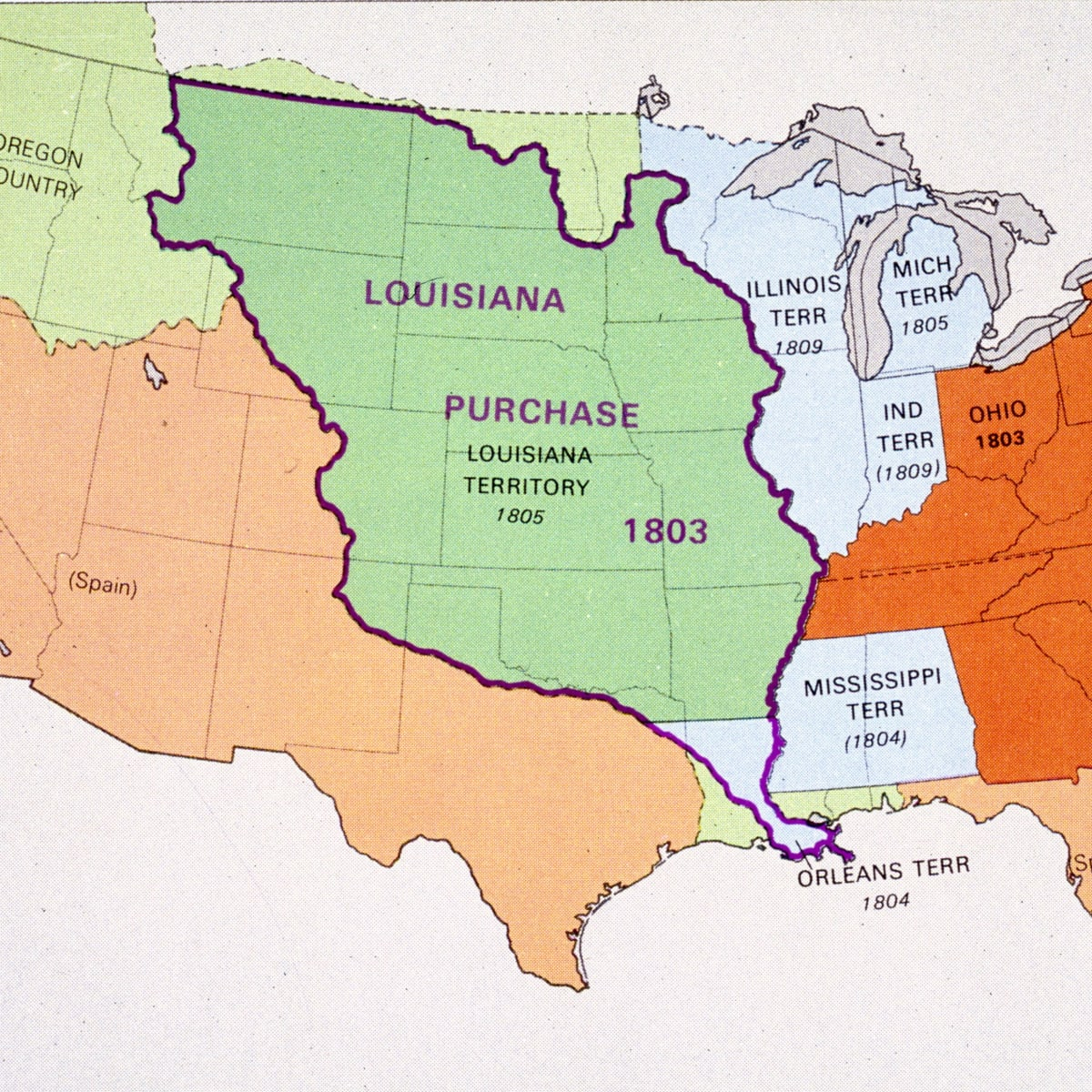united states map louisiana purchase Louisiana Purchase Definition Facts Importance History
