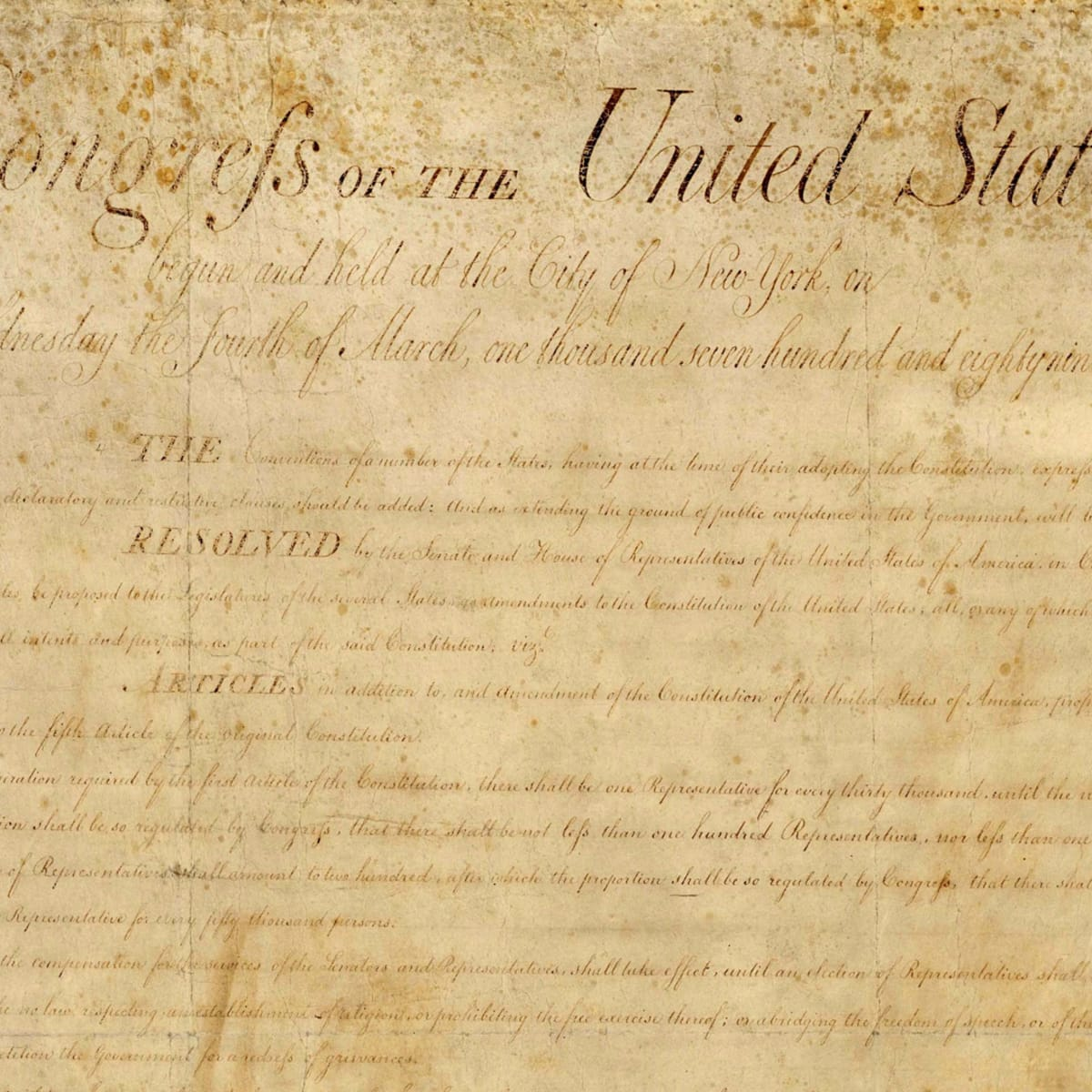 The Bill Of Rights Drafting
