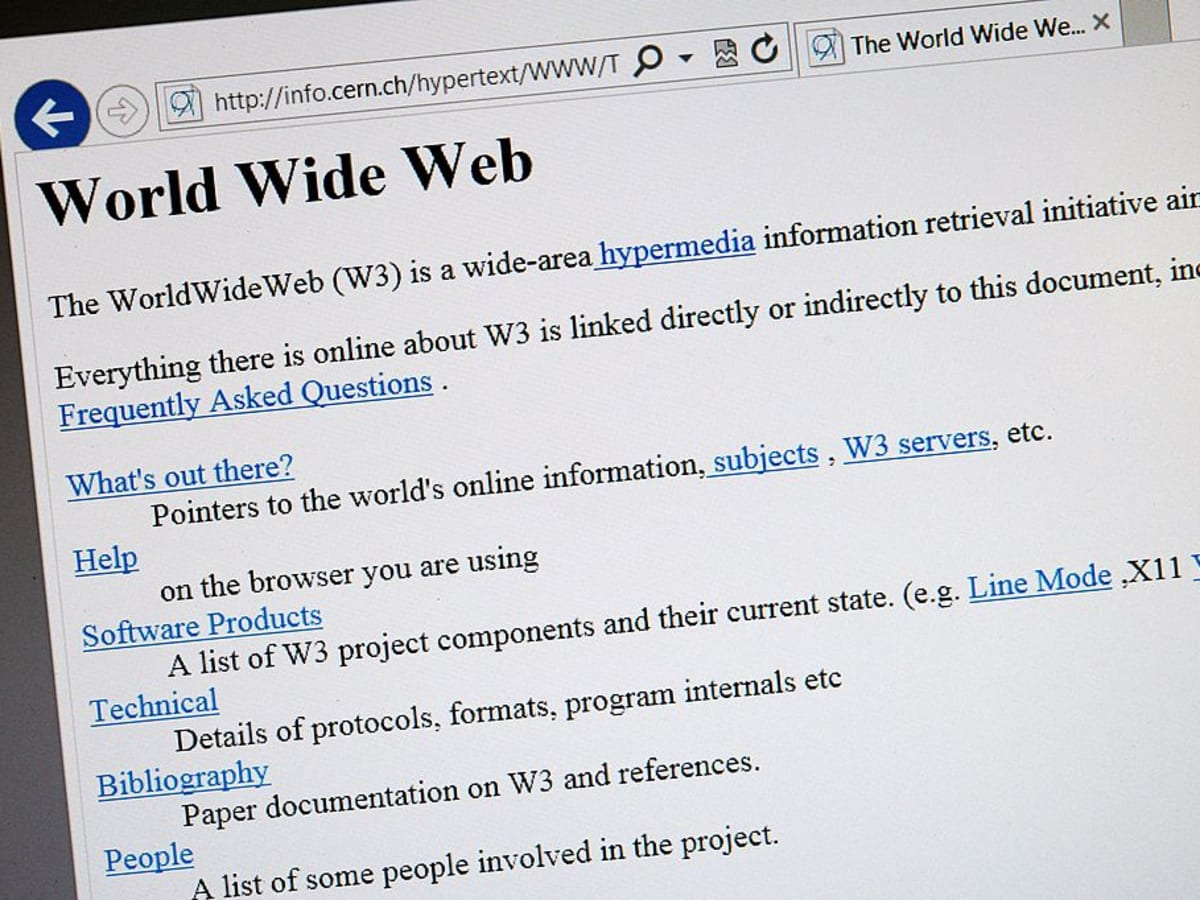 The World's First Web Site - HISTORY