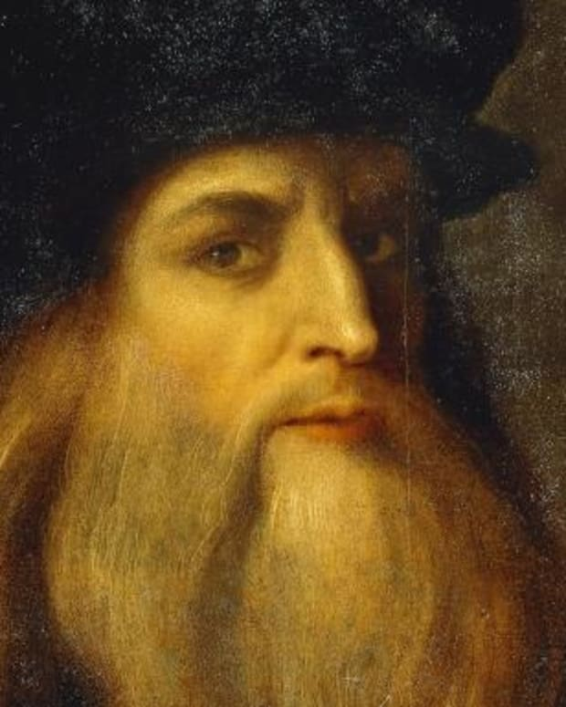 Self-portrait by Leonardo da Vinci.