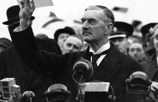 Chamberlain Declares Peace For Our Time 75 Years Ago History