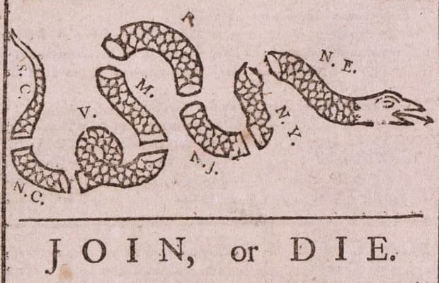How Ben Franklin's Viral Political Cartoon United the 13 Colonies - HISTORY