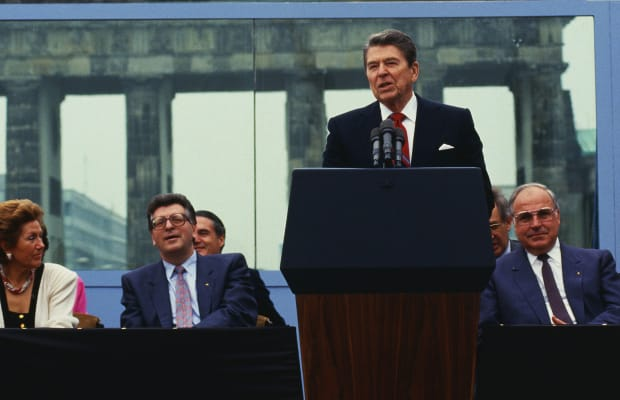 The berlin wall the barrier of freedom in germany in two speeches by reagan and kennedy