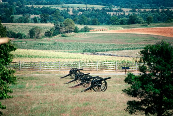 Cannons At Battle Of Antietam Memorial 2