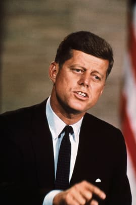 Senator John F Kennedy Campaigning For President 2
