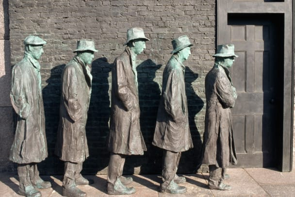 Detail Showing Poor Figures From By George Segal
