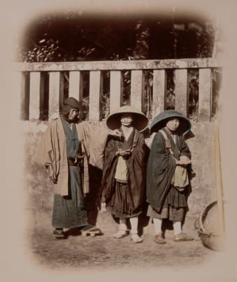 Samurai Giving Alms To Nuns