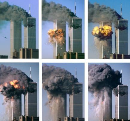Series Of Photos Of Hijacked Airliner Attacking World Trade Center 2
