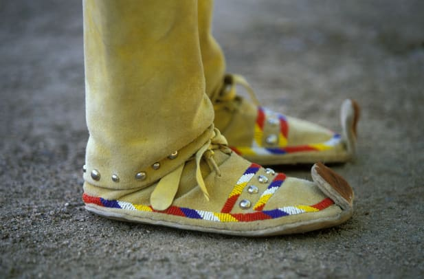 Traditional Apache Moccasins