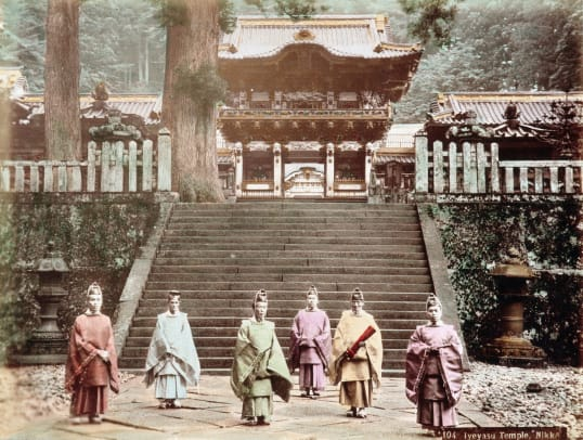 Six Shinto Priests At Toshogu Shrine