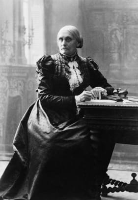 Susan B Anthony Writing At A Desk