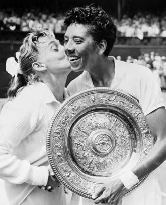 Darlene Hard And Althea Gibson At Wimbledon
