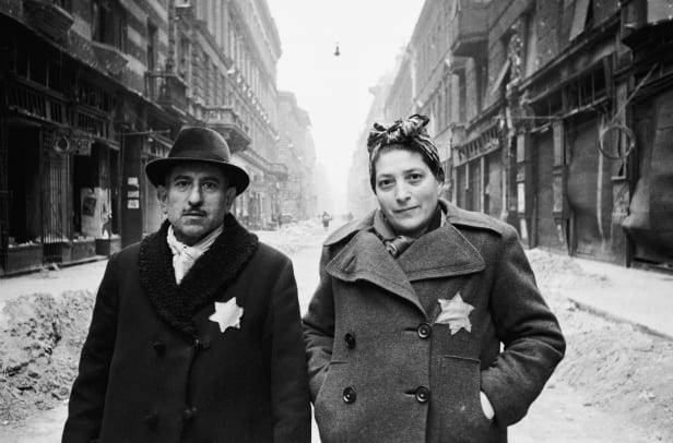 Hungarian Jews Wearing Yellow Stars
