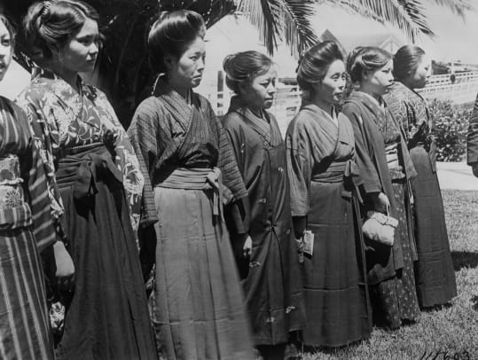 Japanese Brides Lining Up For Inspection