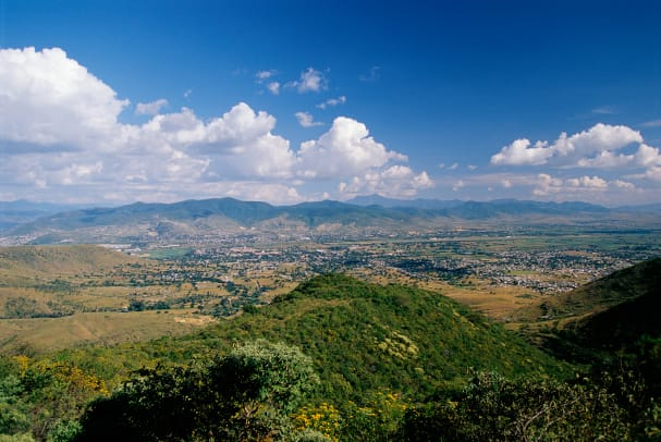 Oaxaca Valley Seen From Monte Alban Temple Complex