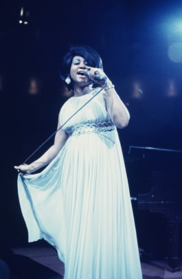 Aretha Franklin Performs In New York