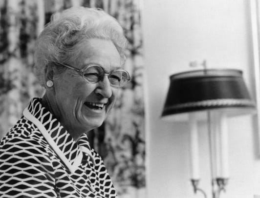 Portrait Of Dr Virginia Apgar Smiling