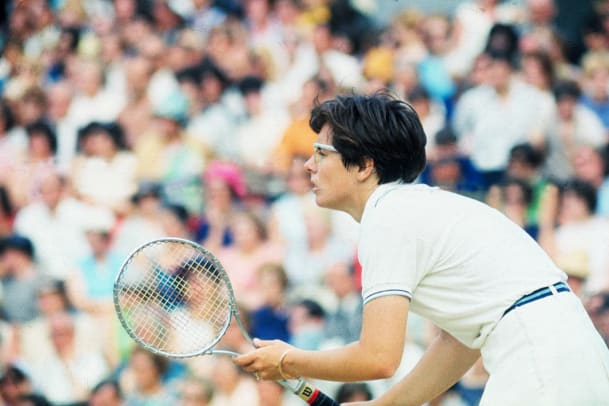 Billie Jean King In Position