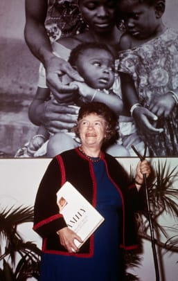 Anthropologist Margaret Mead Promoting Book