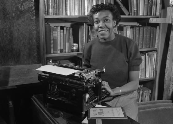 Gwendolyn Brooks With Typewriter