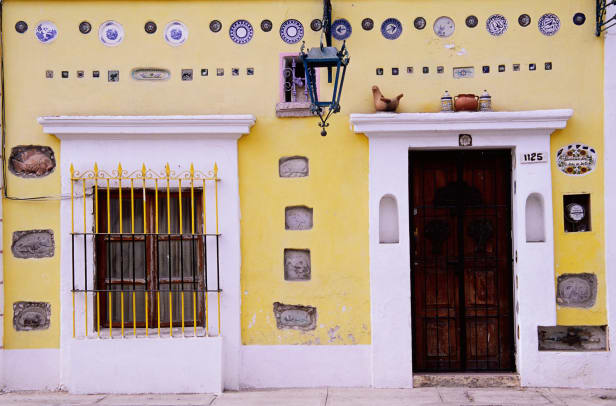 Yellow House Facade In Mazatlan